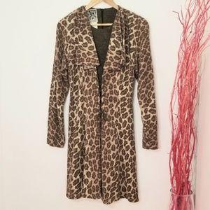 Lace   Vintage Sweater Dress Leopard Print